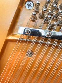 European made piano strings on a Bentley piano